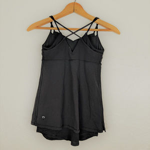 Ivivva | Black Strappy Tank with Mesh Lining